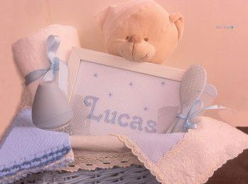 Canastilla Lucas bebes regalo almeria