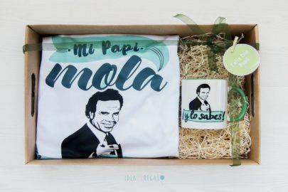 Caja con camiseta y Taza mi Papi mola y lo sabes