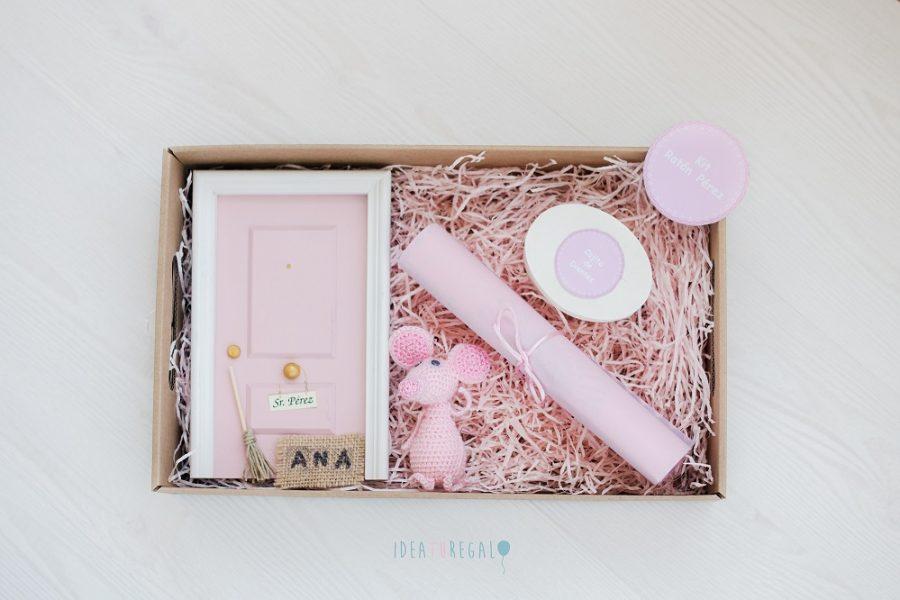 Caja con Puerta Ratón Pérez rosa