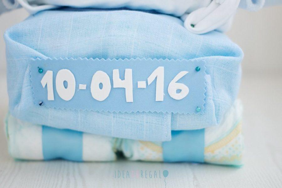 Matricula coche de pañales con fecha de nacimiento