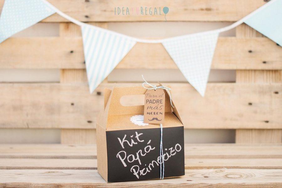 Caja picnic decorada para papá novato