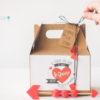 Caja pinic decoraza y etiquetada