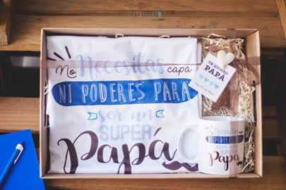 pack de camiseta y taza superpapa